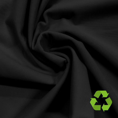 Repreve® Recycled Polyester Spandex Jersey - Black - 260gsm