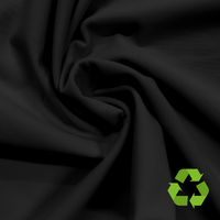 Repreve® Heavy Recycled Polyester Spandex Jersey - Black - 300gsm
