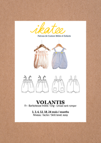 Volantis Tank Romper Sewing Pattern- Baby 1/24M - Ikatee
