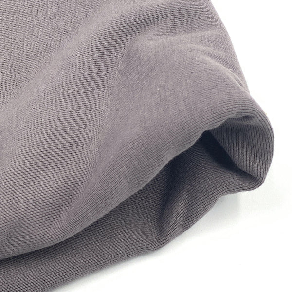 1x1 Organic Cotton Baby Rib - Grown & Made in USA - Graphite