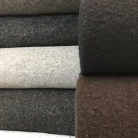 Boiled Wool - European Import - Light Grey Melange