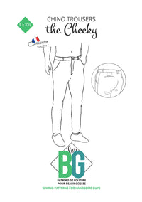 The Cheeky - Chino Trousers - Mens Sewing Pattern - Patrons Les BG