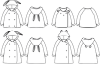 Grand'Ourse Cardigan & Jacket Sewing Pattern - Kids 3/12Y - Ikatee