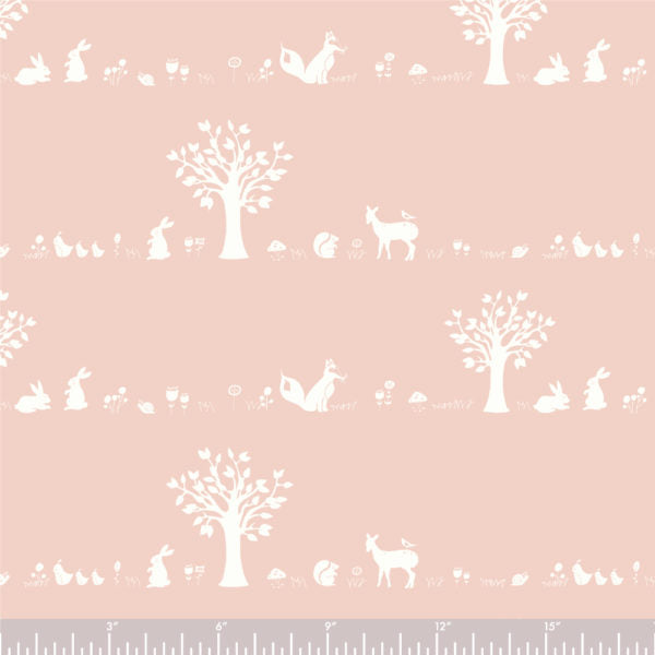 Forest Friends - Blush - Storyboek Drie - Jay-Can Designs - Birch Fabrics - Knit