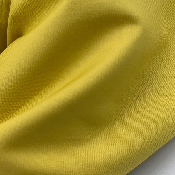 Golden Yellow - Simplifi Fabric - Organic Cotton Solid Poplin