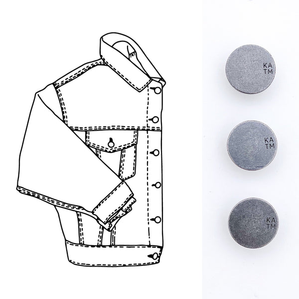 Denim Jacket Hardware Kit - Pewter - Kylie And The Machine