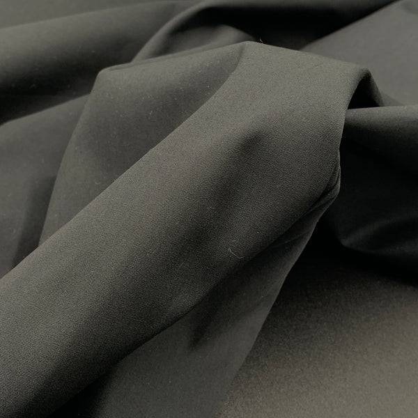 Black - Simplifi Fabric - Organic Cotton Solid Poplin