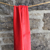Bamboo Organic Cotton Velour - Red