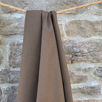 Bamboo Organic Cotton Spandex Ribbing Wide 280 gsm - Brown