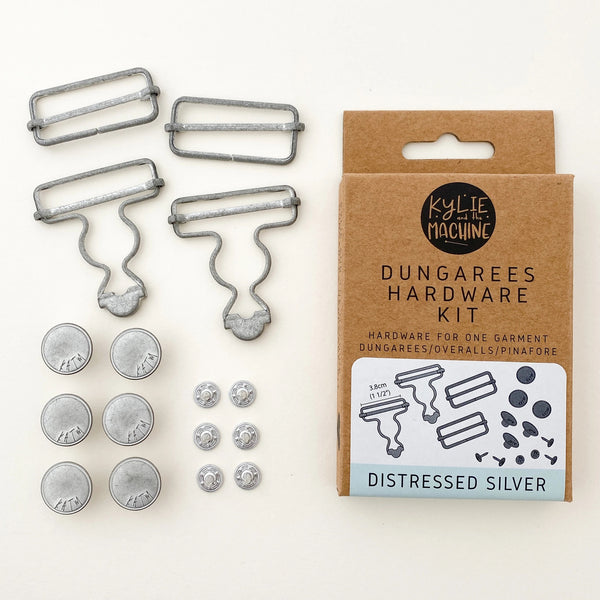 Dungarees / Overall Hardware Kit - Distressed Silver - Kylie And The Machine