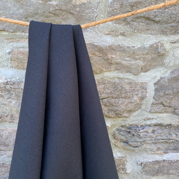 Organic Cotton Canvas 12oz - Midnight Black