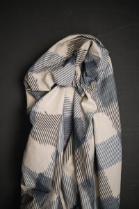 Mina Blue Ikat Indian Cotton - Merchant & Mills