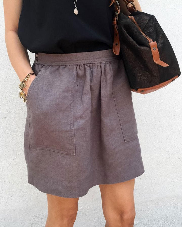 Basics Pocket Skirt Sewing Pattern - Cali Faye Collection