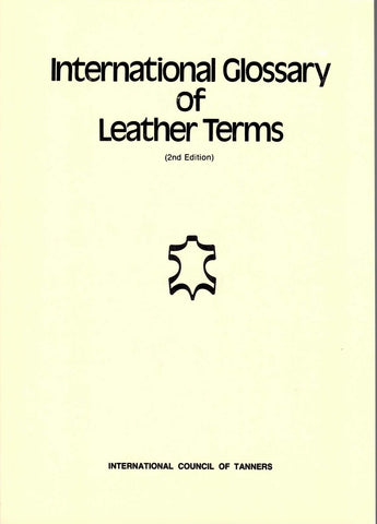 International Glossary Of Leather Terms
