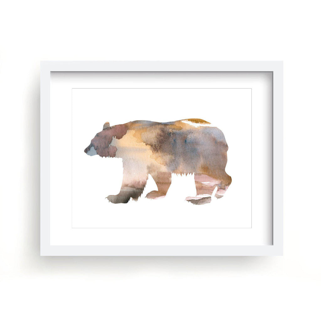 Brown Bear Watercolor Print-Art Prints-Lazy J-Lazy J