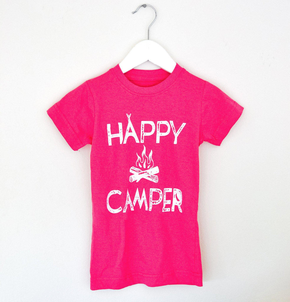 Happy Camper Kids Tee-Kids-Lazy J-Lazy J