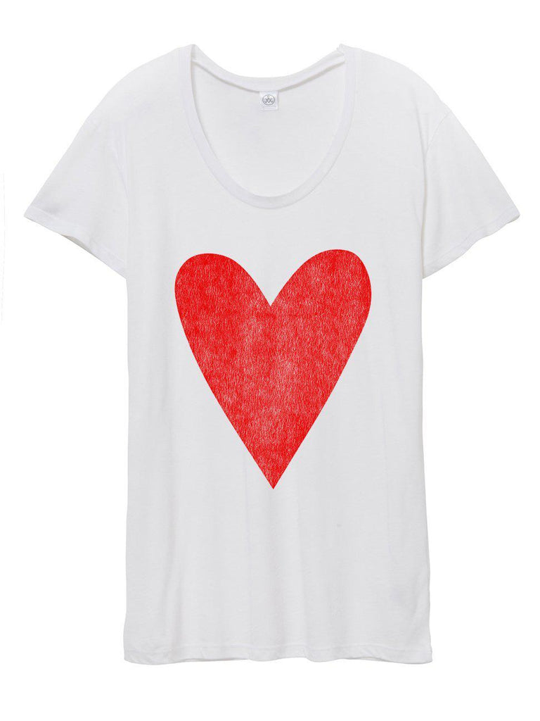 Heart Tee-T Shirt-Lazy J-Lazy J
