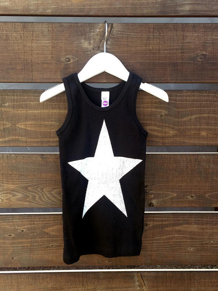 Kids Star Ribbed Tank-Kids-Lazy J-Lazy J