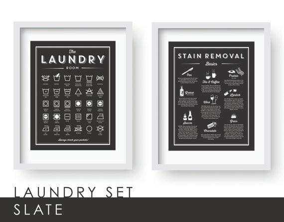 Laundry Room Wall Decor in Slate-Art Prints-Lazy J-Lazy J
