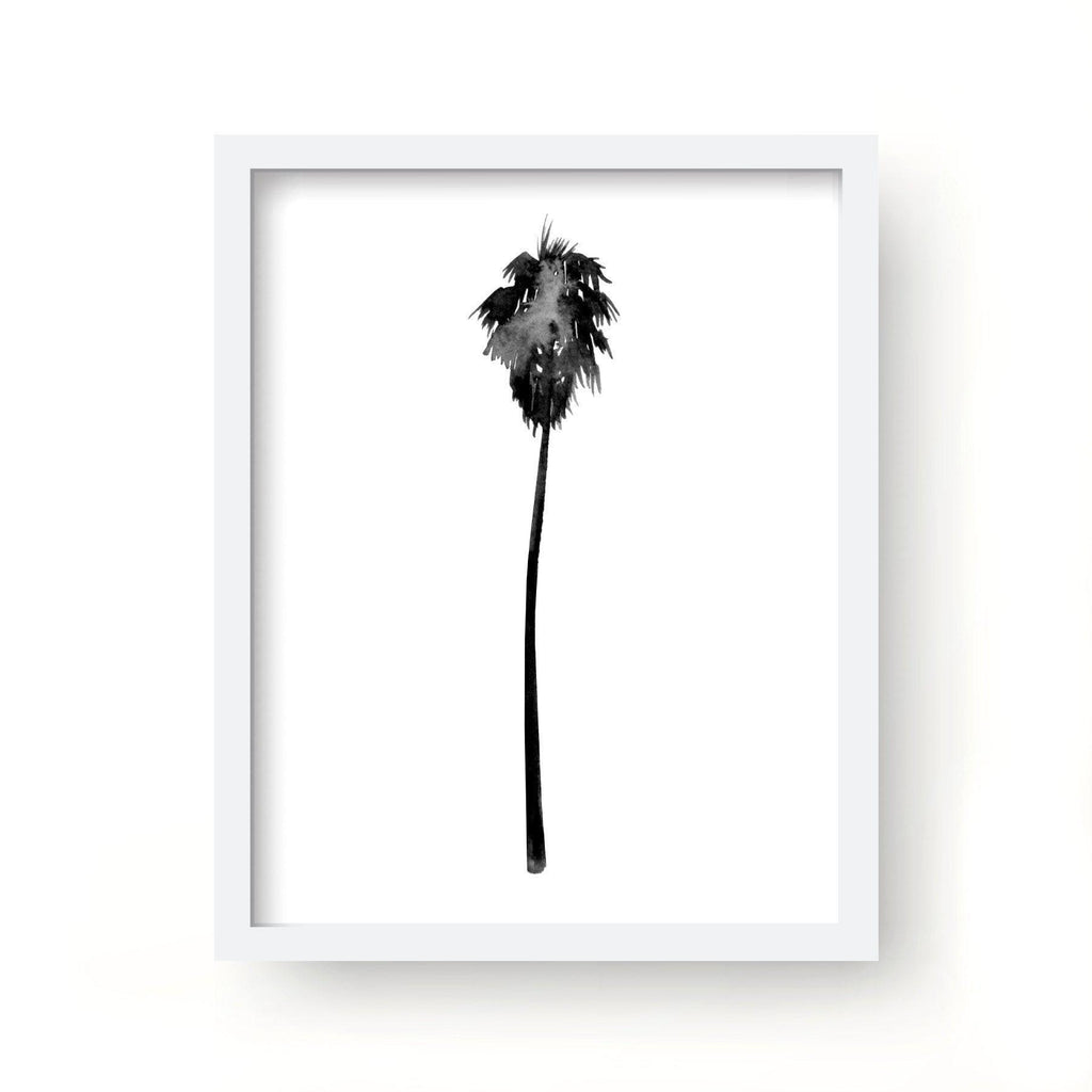Single Watercolor Palm Tree Print-Art Prints-Lazy J-Lazy J