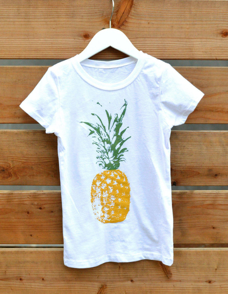 Sparkly Pineapple Kids' Tee-Kids-Lazy J-Lazy J