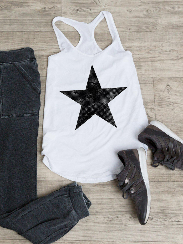 Star Tank-Tank Top-Lazy J-Lazy J