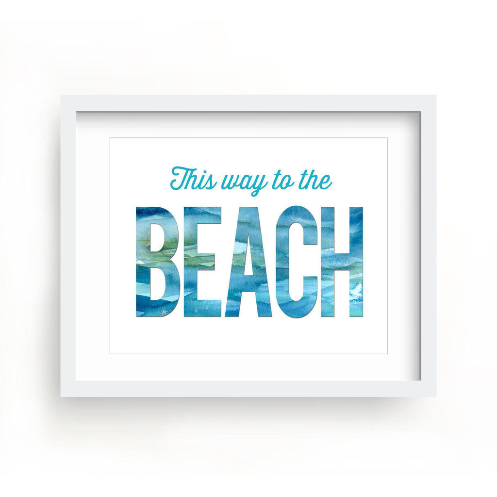 This Way To the Beach Print-Art Prints-Lazy J-Lazy J