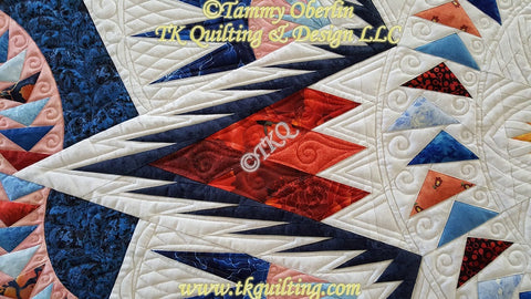 Glacier Star Quilting Detail