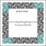 2329 and 2329A from tkquiltingdesign.com  Copyright Tammy Oberlin