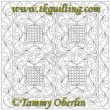2796A Fanciful Border 3 Cnr - TK Quilting & Design