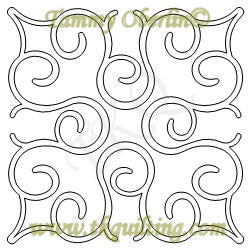 2813C Simple Curling Block2 12 - TK Quilting & Design