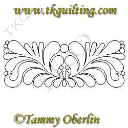 2819C Mirrored Feather Rectangle Block - TK Quilting & Design
