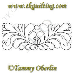 2819 Mirrored Feather Border 6