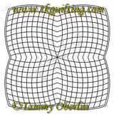 2825 Curve Cross Hatch Trim Block 20 - TK Quilting & Design