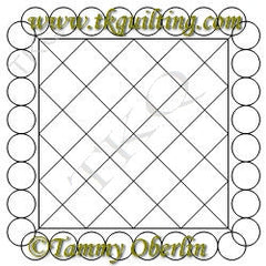 2893 Pearl Frame & Cross Hatch 10 - TK Quilting & Design