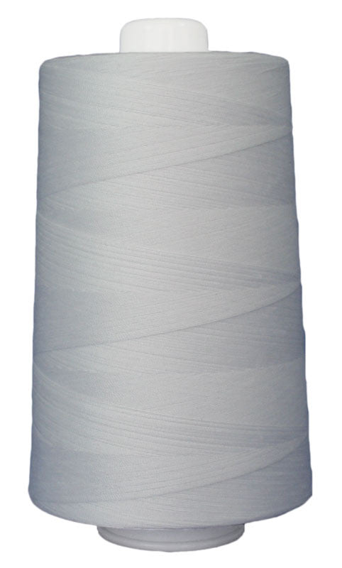 Omni #3001 Bright White 6000 yds poly-wrapped poly core