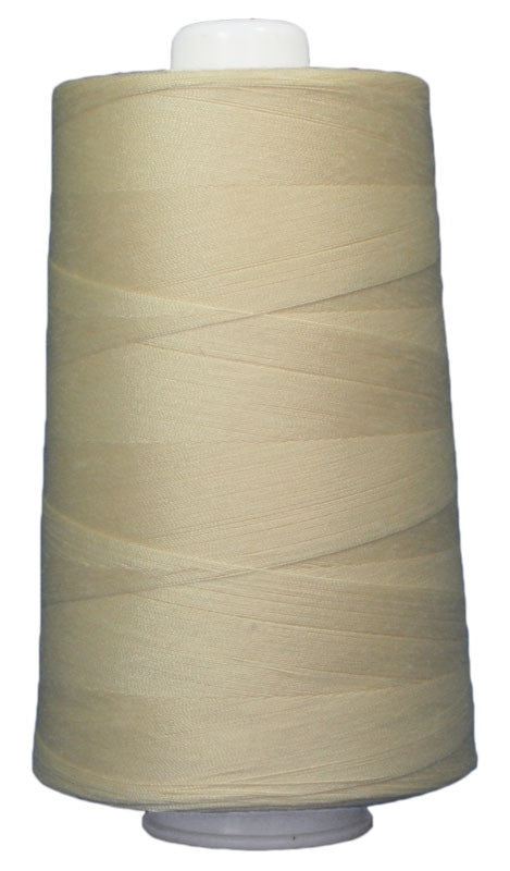 OMNI #3048 Butter 6000 yds Poly-wrapped poly core - TK Quilting & Design