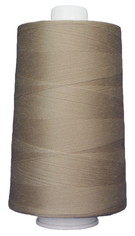 OMNI #3068 Beige 6000 yds Poly-wrapped poly core - TK Quilting & Design