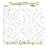 "R121 18"" Tread E2E & 3"" Tread Border & Corner - TK Quilting & Design"