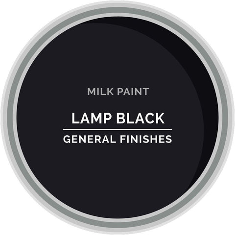 Lamp Black Milk Paint, Pint
