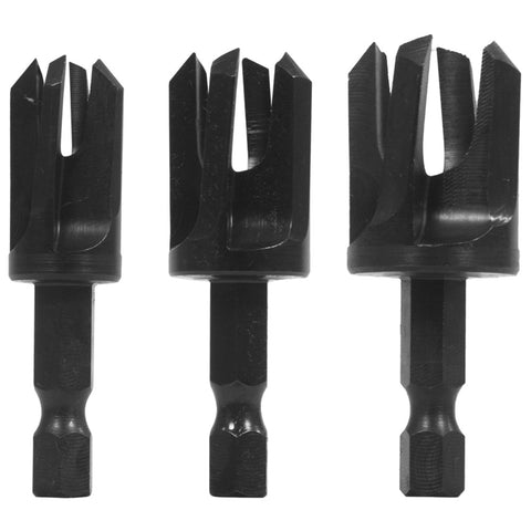 QUICK CHANGE TAPER PLUG CUTTER - 3 PIECE SET - BY SNAPPY