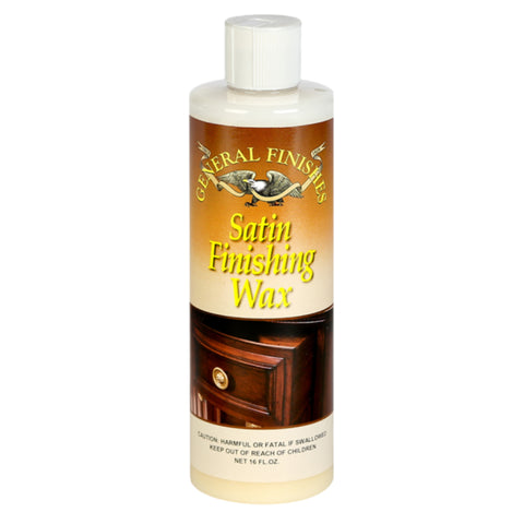 General Finishes Satin Finishes Wax, 1 Pint