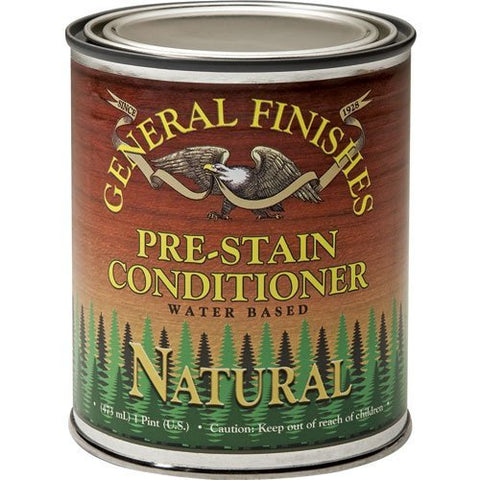 General Finishes Water Based Wood Stain, 1 Pint, Natural