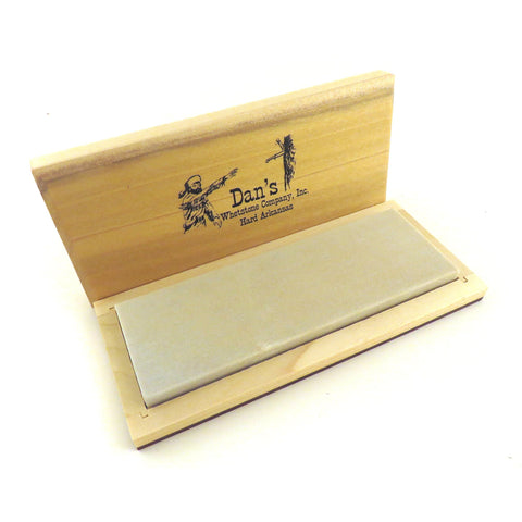 "Genuine Arkansas Hard (Fine) Knife Sharpening Bench Stone Whetstone 6"" x 2"" x 1/2"" in Wood Box FAB-62-C"