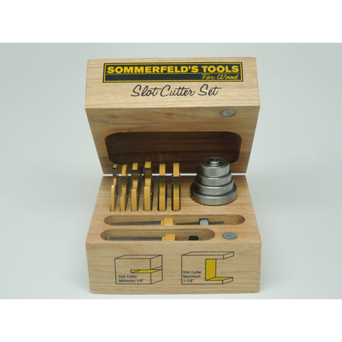 Sommerfeld's 12 Piece Three Wing Slot Cutter Set, 1/2-Inch Shank