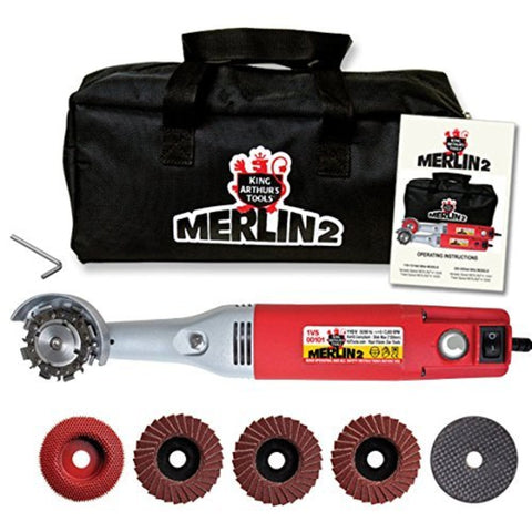 King Arthur's Tools 10005 Merlin 2 Mini Grinder Carving Kit