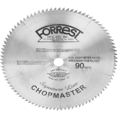 Forrest Chopmaster Signature Line Miter and Radial Saw Blades