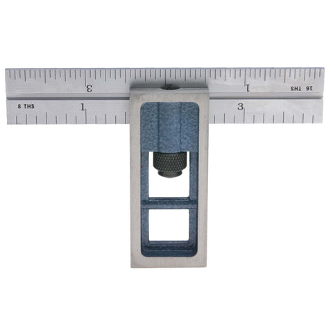 "PEC Tools 7104-404 4"" 4R Double Square, reads 32nds, 64ths, 8ths, 16ths."
