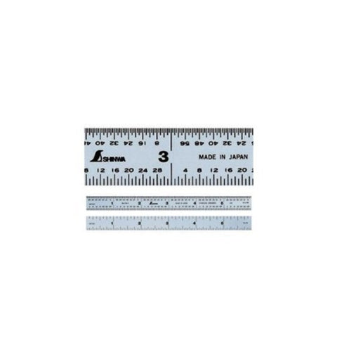 "Shinwa Machinist Ruler 6"" 4R Graduation 3101A Hardened Stainless Steel"