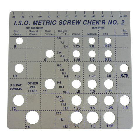 Metric Screw Checker (8mm to 14mm) - Made in USA